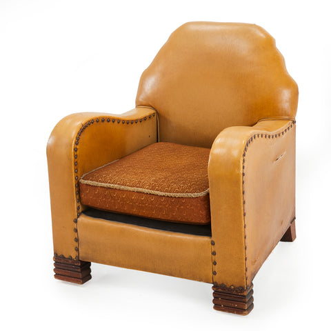 Mustard Leather Club Chair