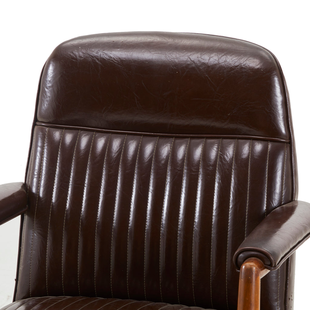 Brown Leather Office Armchair