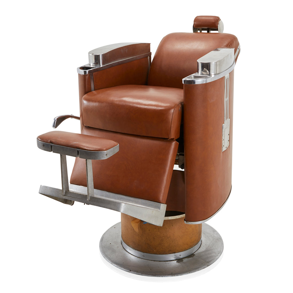 Brown Leather Barber Chair
