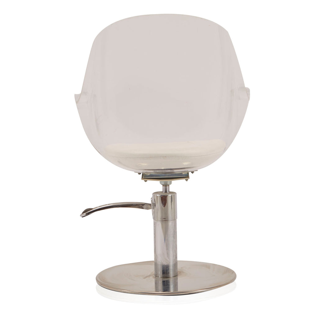 Lucite Beauty Salon Chair with Chrome Base