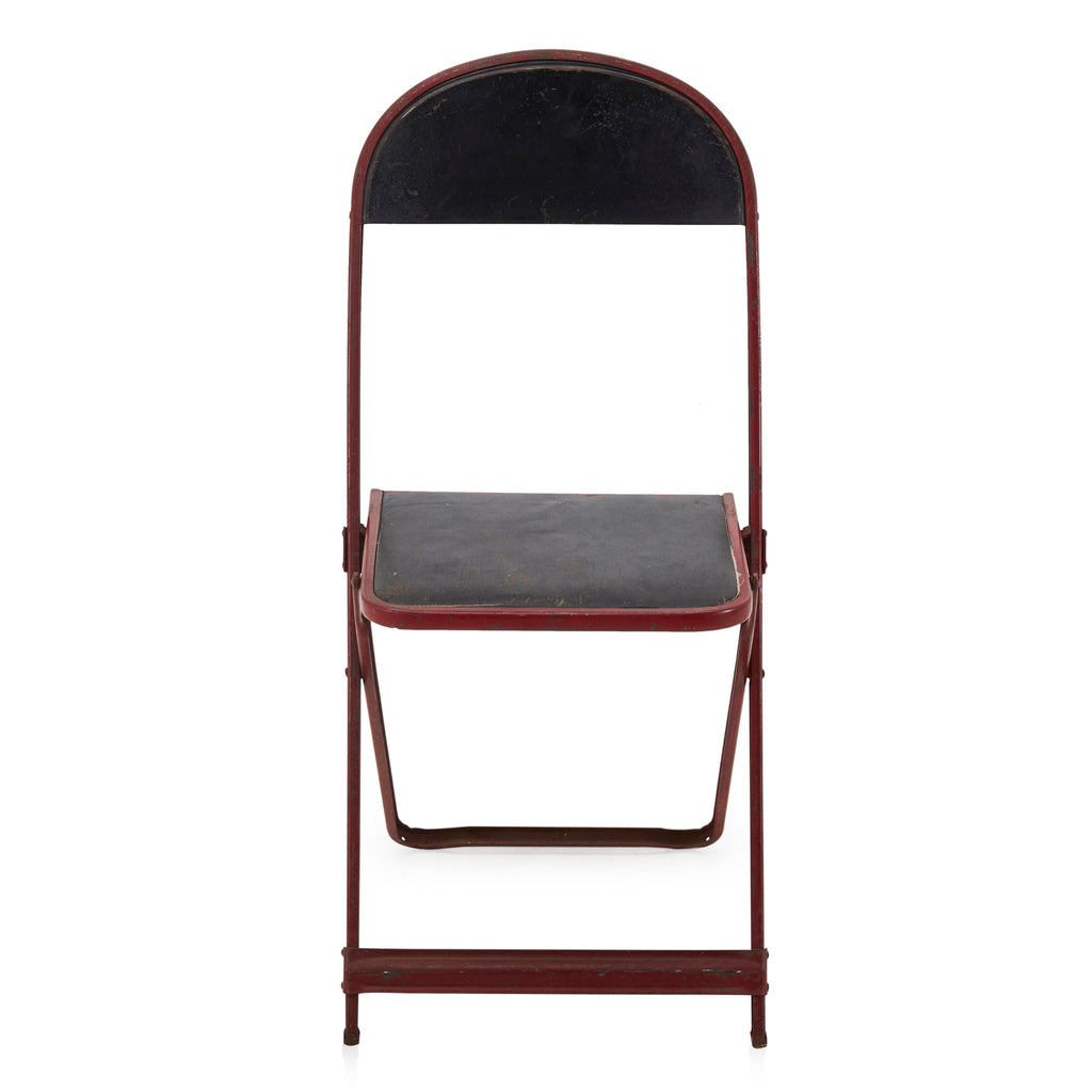 Black + Red Metal Folding Chair