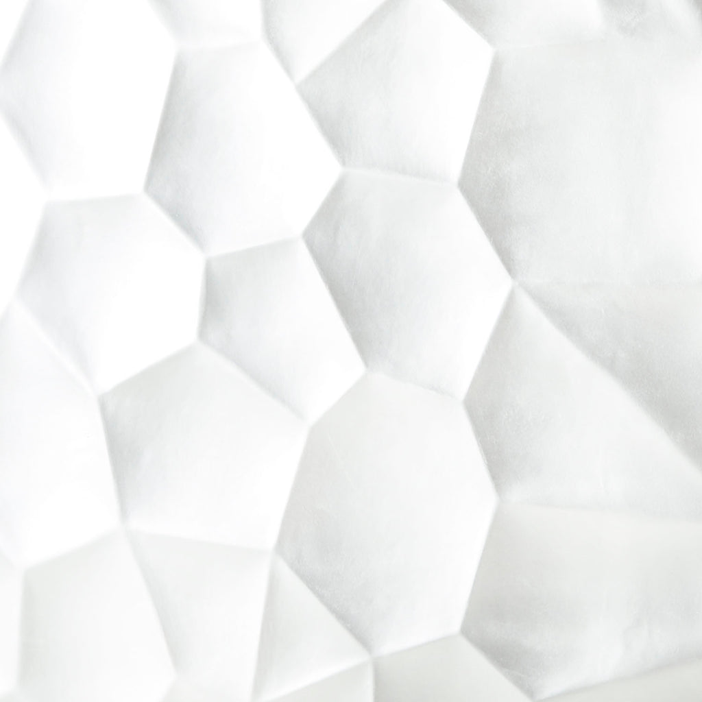 White Geometric Room Divider - Square
