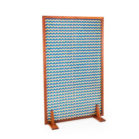 Blue and White Octagon Resin Room Divider