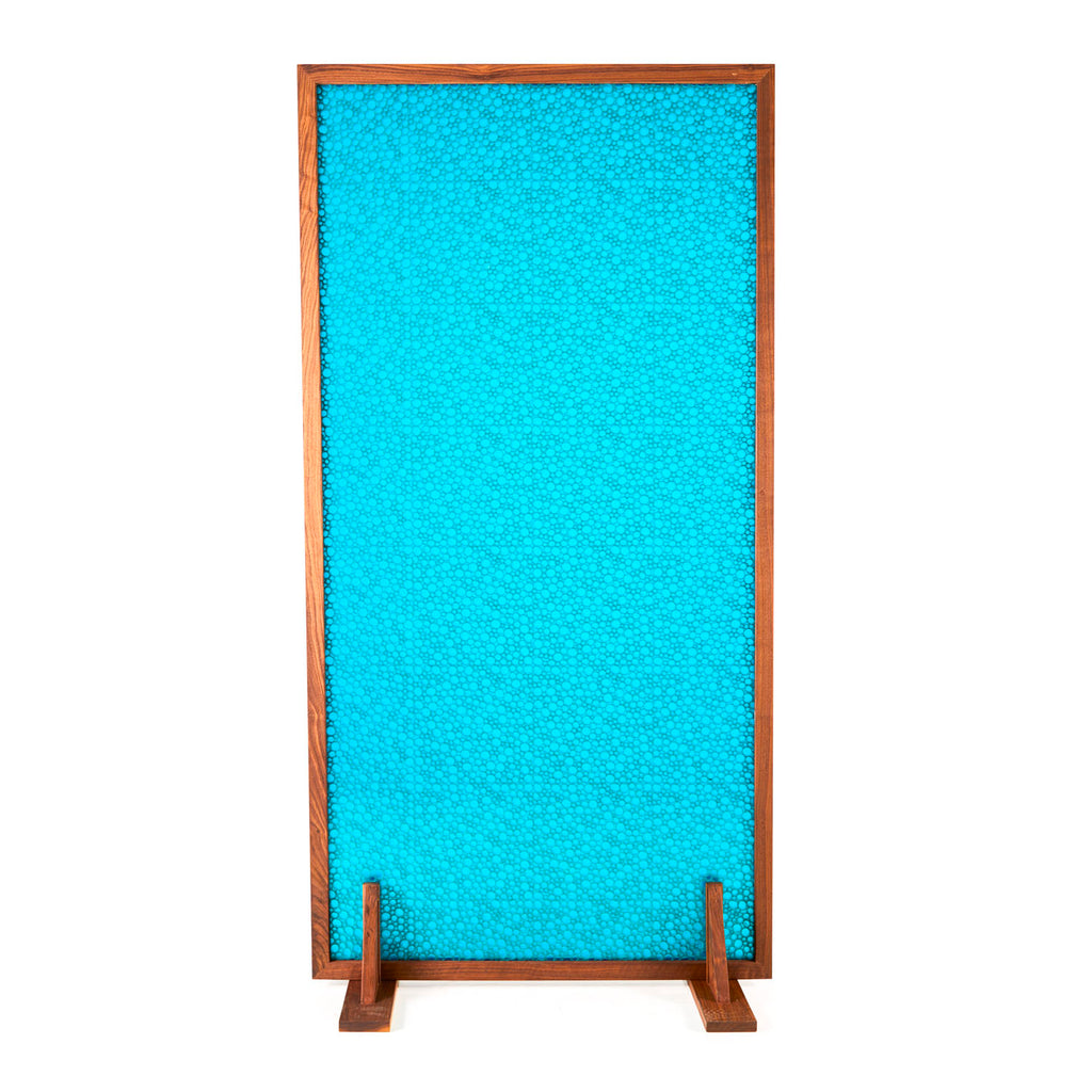 Turquoise Bubble Pattern Room Divider