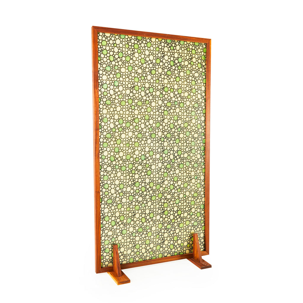 Green Dot Resin Room Divider