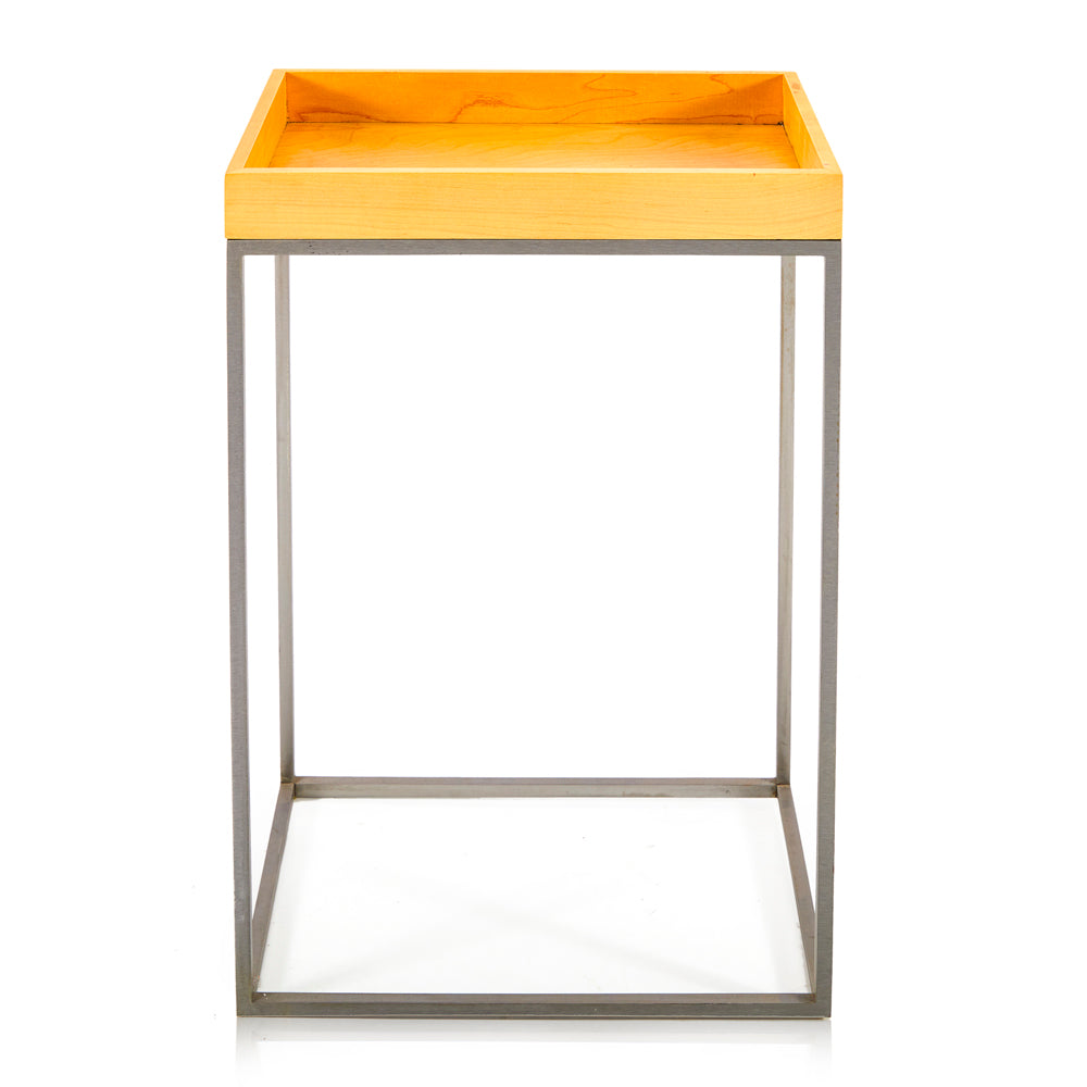 Wood Tray Side Table - Tall 3