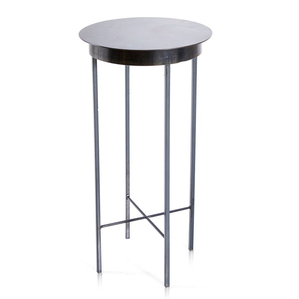 Black Steel Side Table - Circle