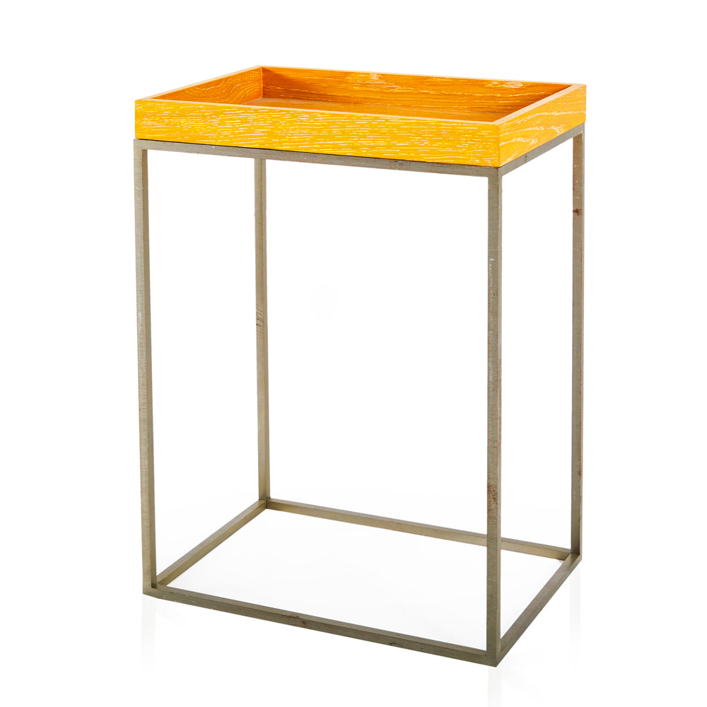 Wood Tray Side Table - Tall 2