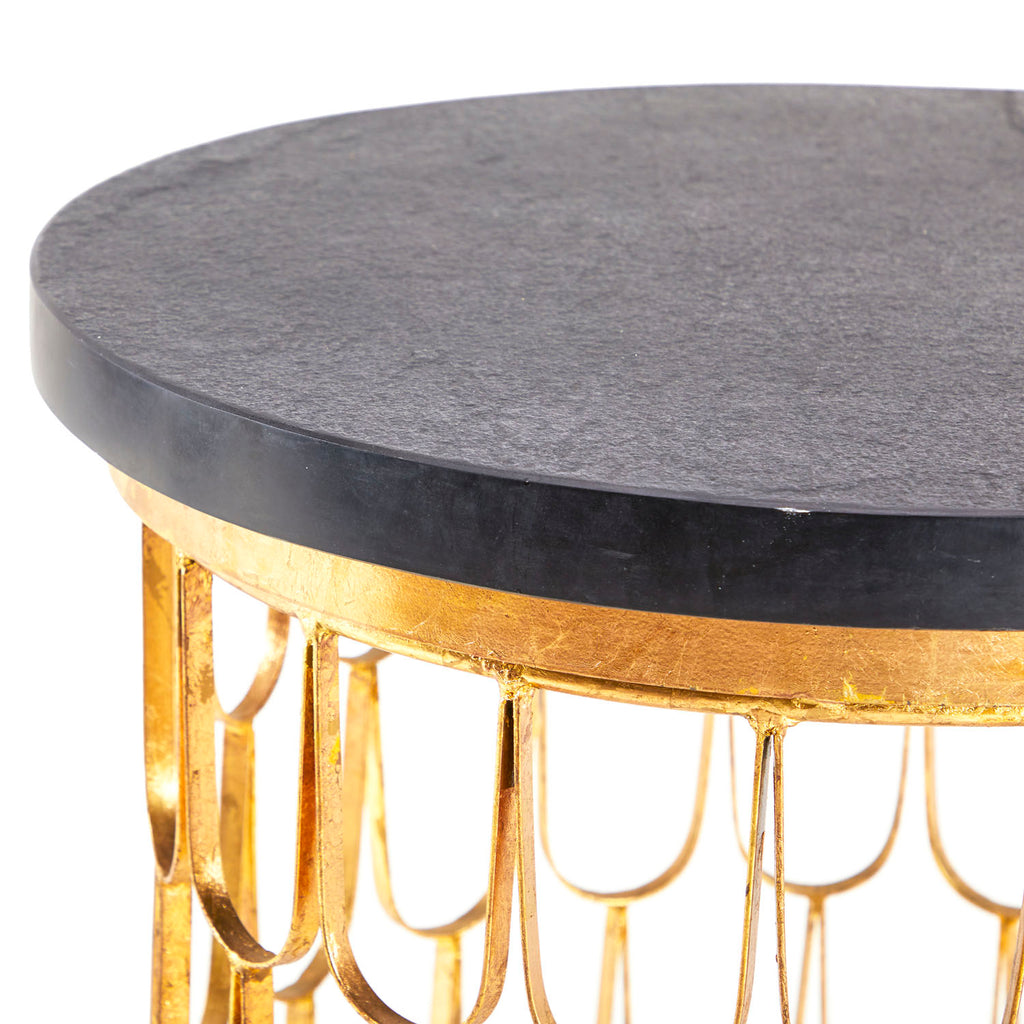 Fish Scale Side Table