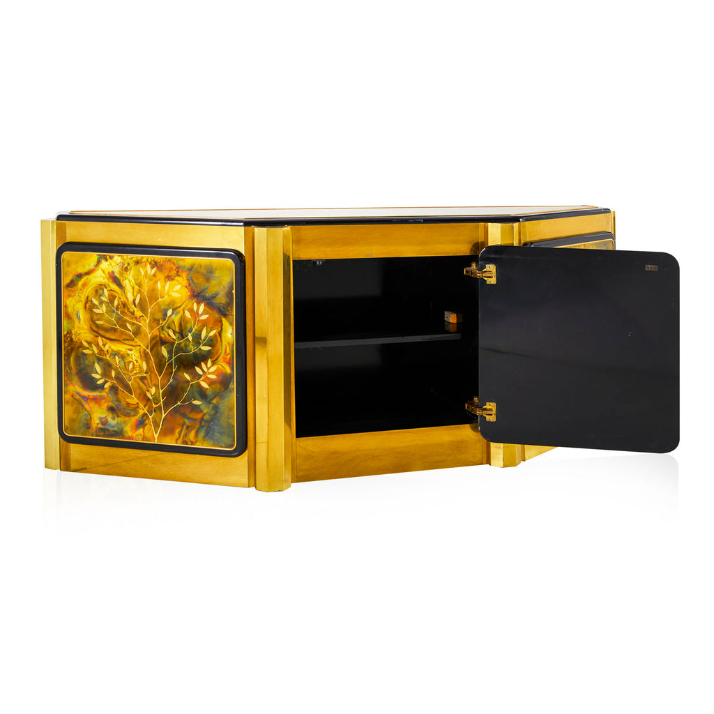 Marbled Gold Media Console