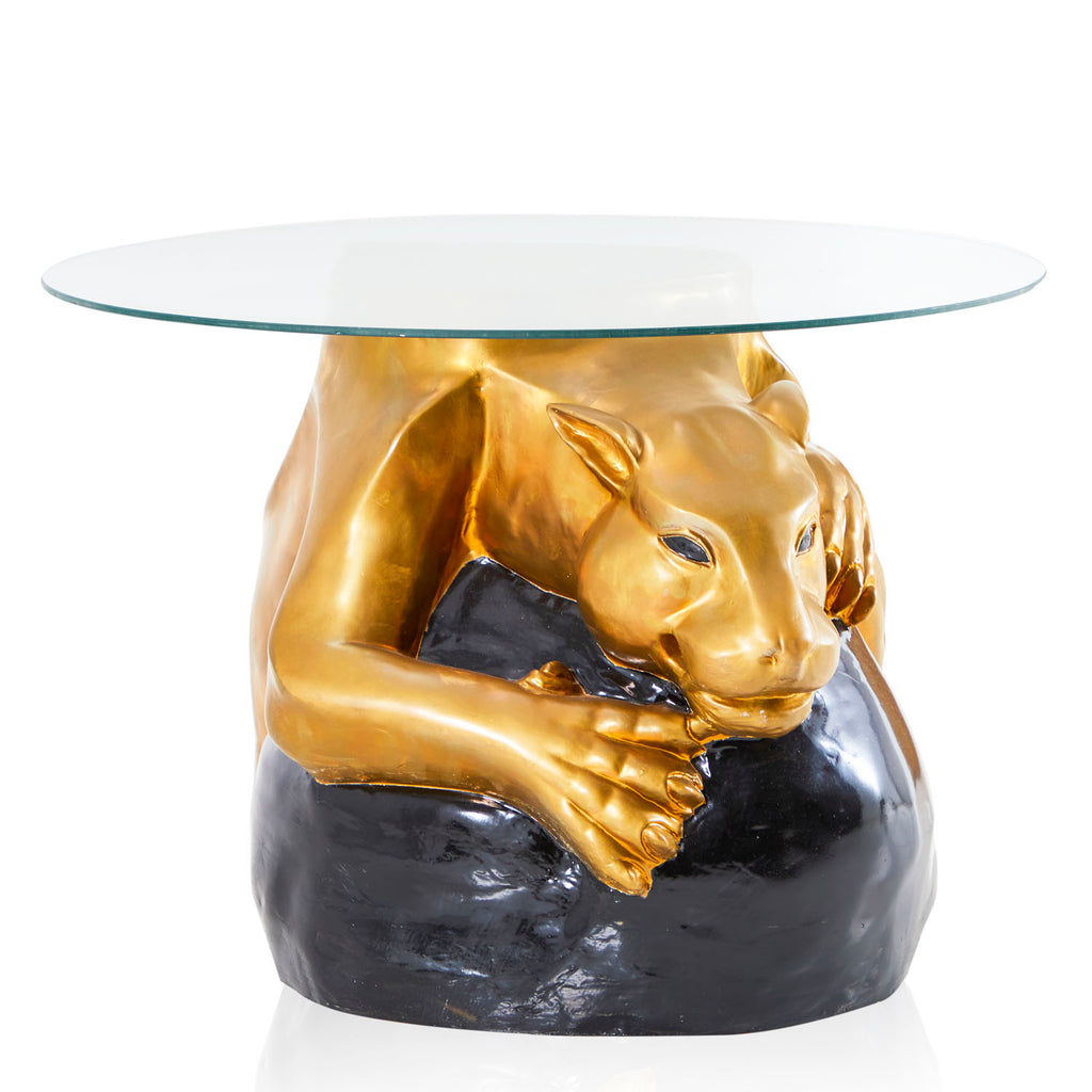 Gold Panther Coffee Table