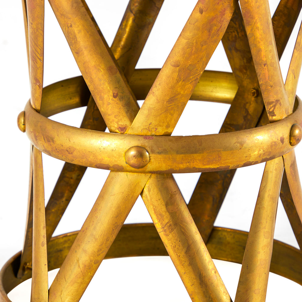 Gold Drum End Table