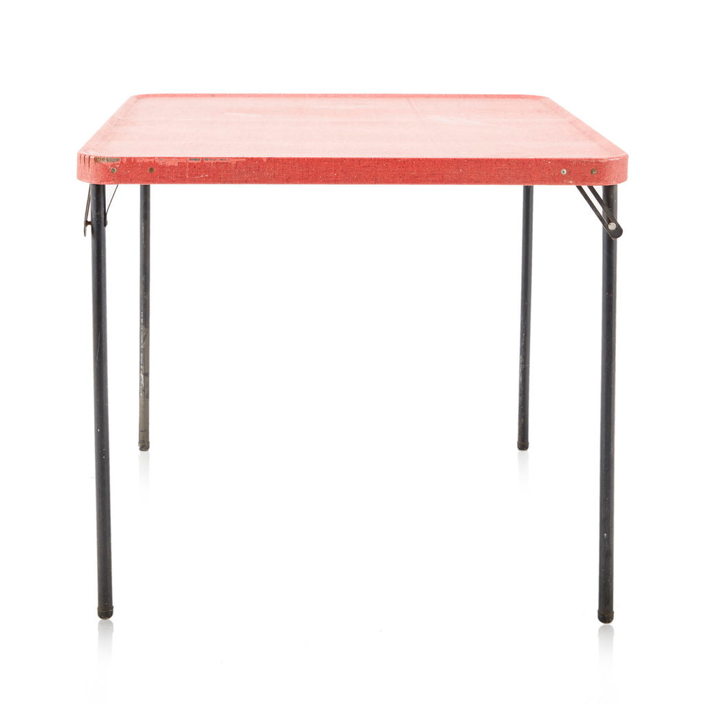 Speckled Red Folding Card Table