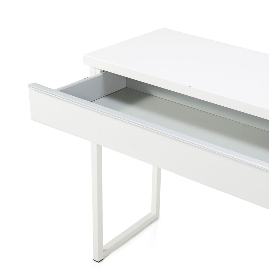 Long White Minimalist Console Table