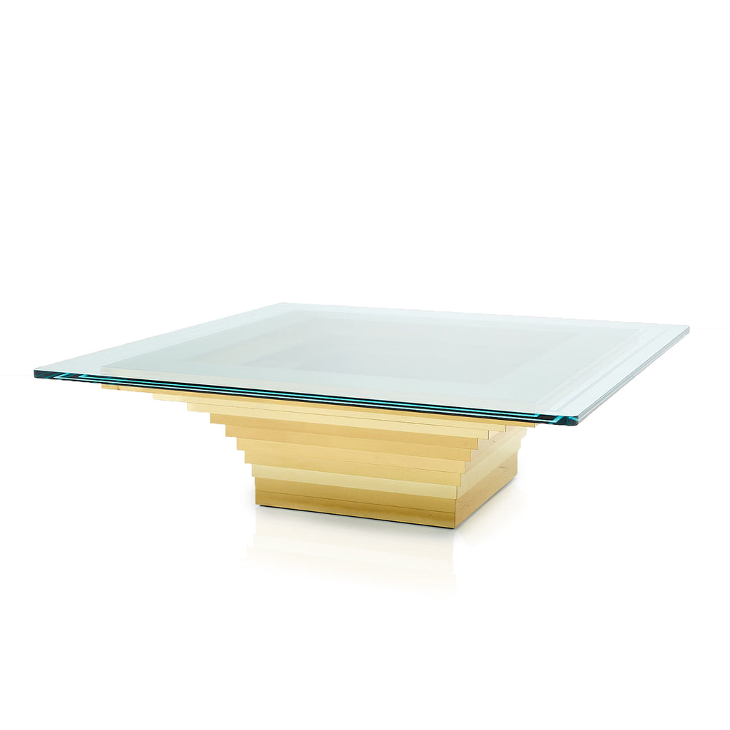 Gold Layered Square Coffee Table