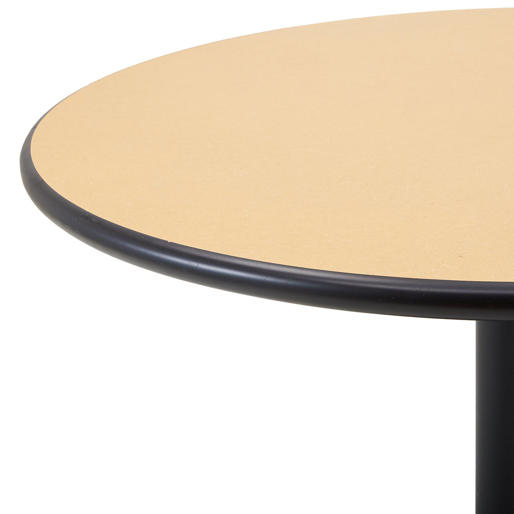 Round Black and Tan Kitchen Table
