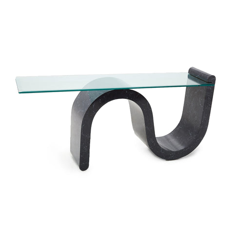 Black 80s S-Curve Console Table