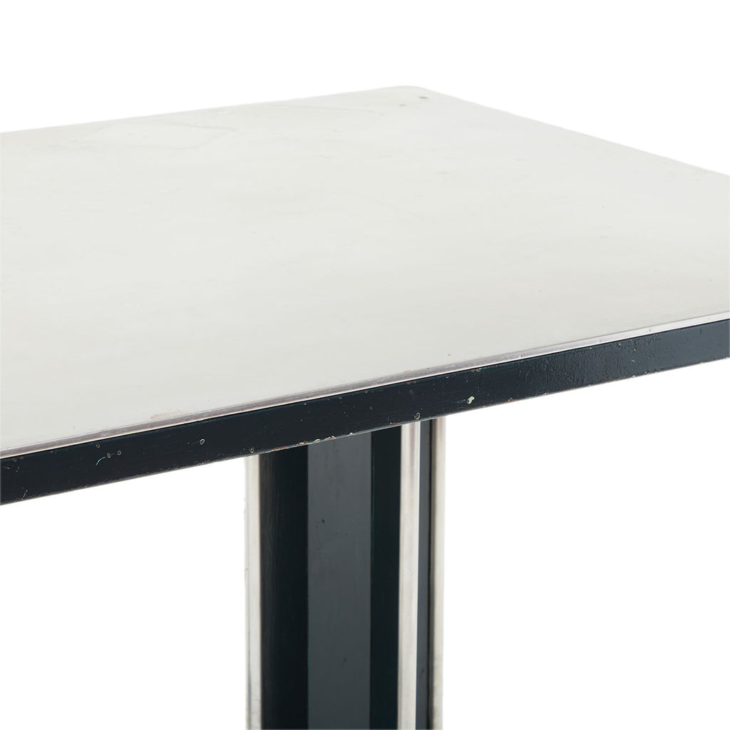 White and Black Rectangle Work Table