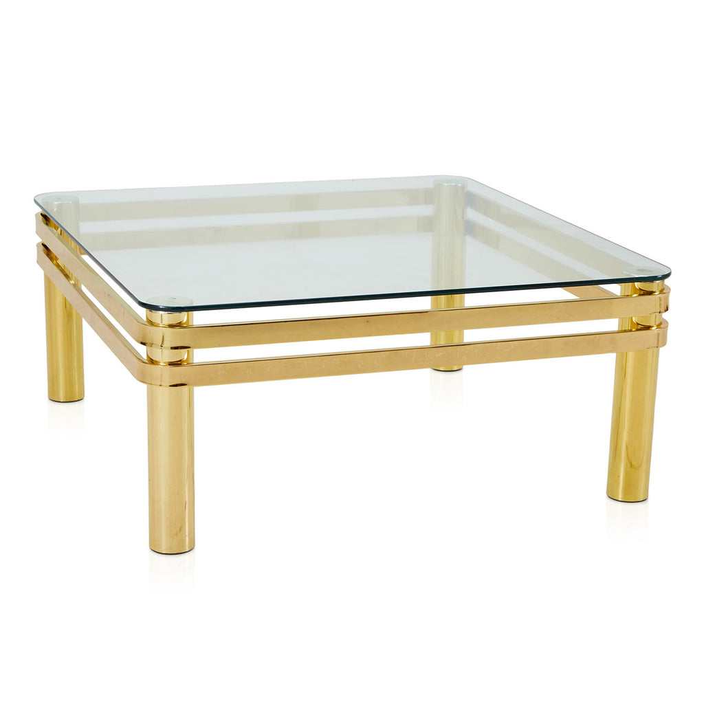 1980's Deco Gold Coffee Table