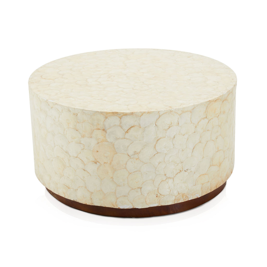Ivory Fish Scale Round Coffee Table