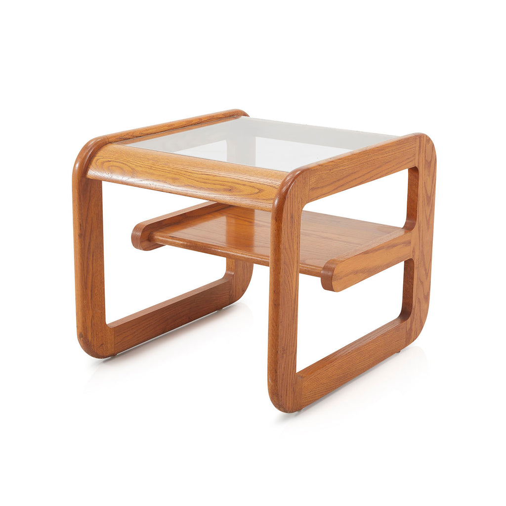 Smooth Wooden Side Table