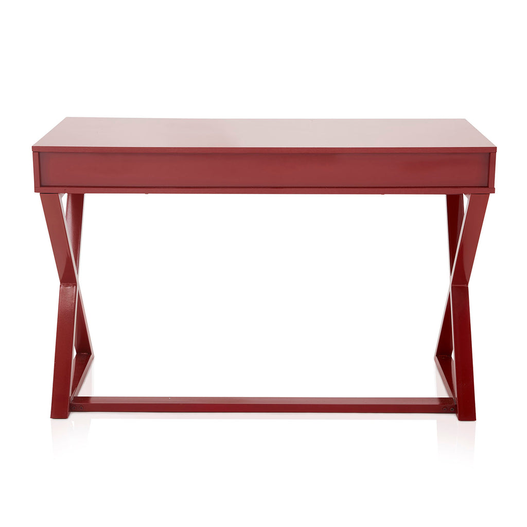 Dark Red Contemporary Console Desk Table