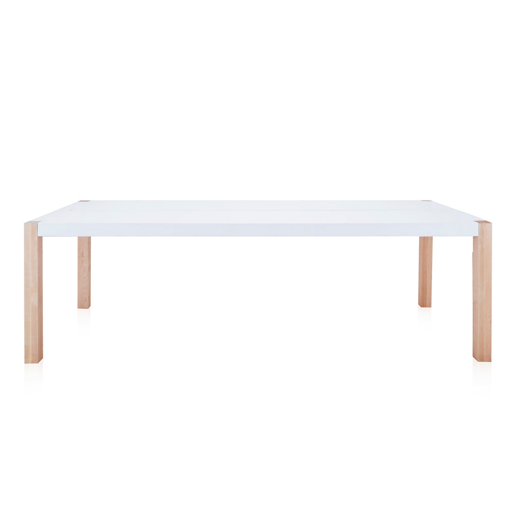 White Modern Bar Height Conference Table