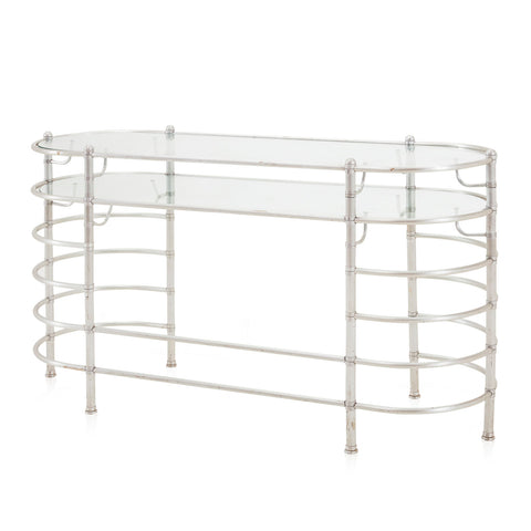 Metal Bamboo Style Console Table