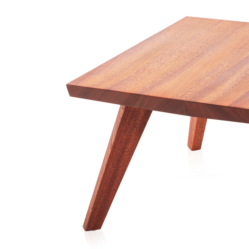 Low Square Wood End Table