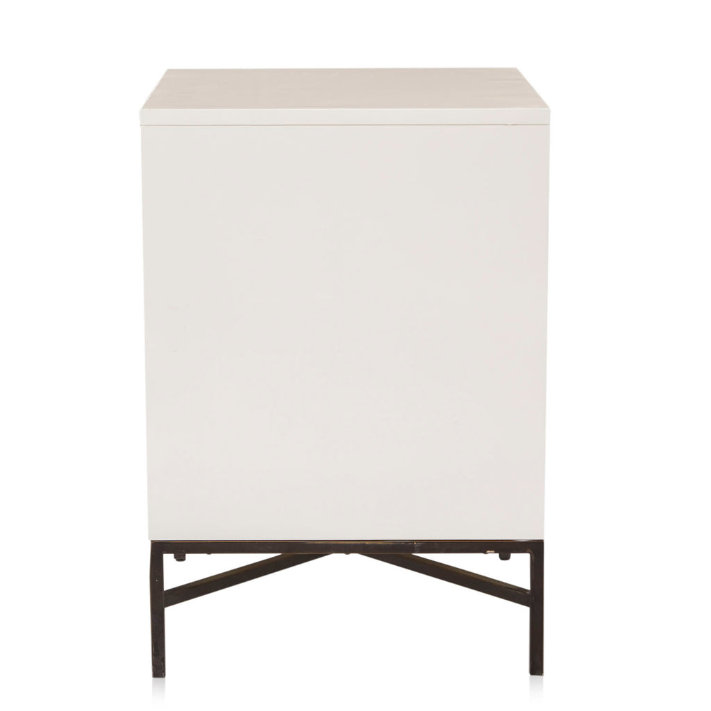 Cream Modern Mosaic Bedside Table