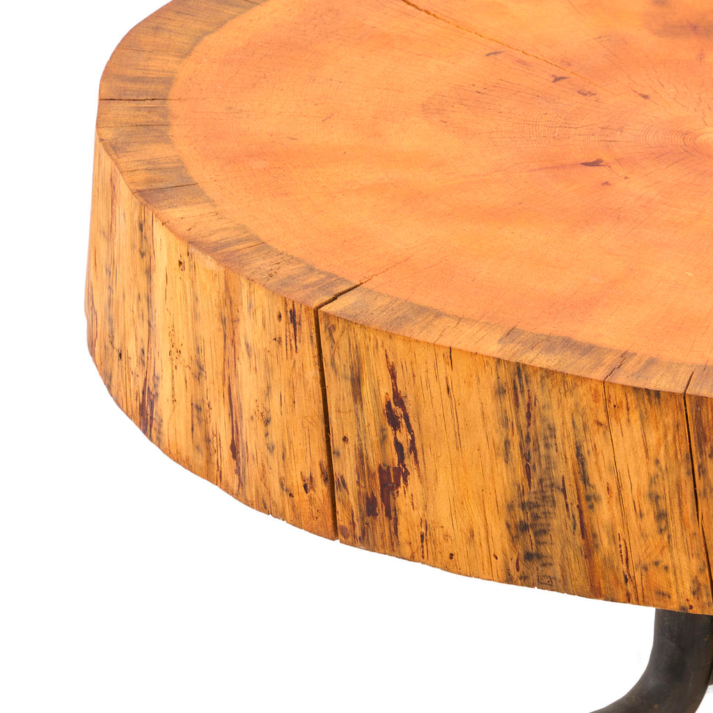 Round Wood Slice Large Side Table
