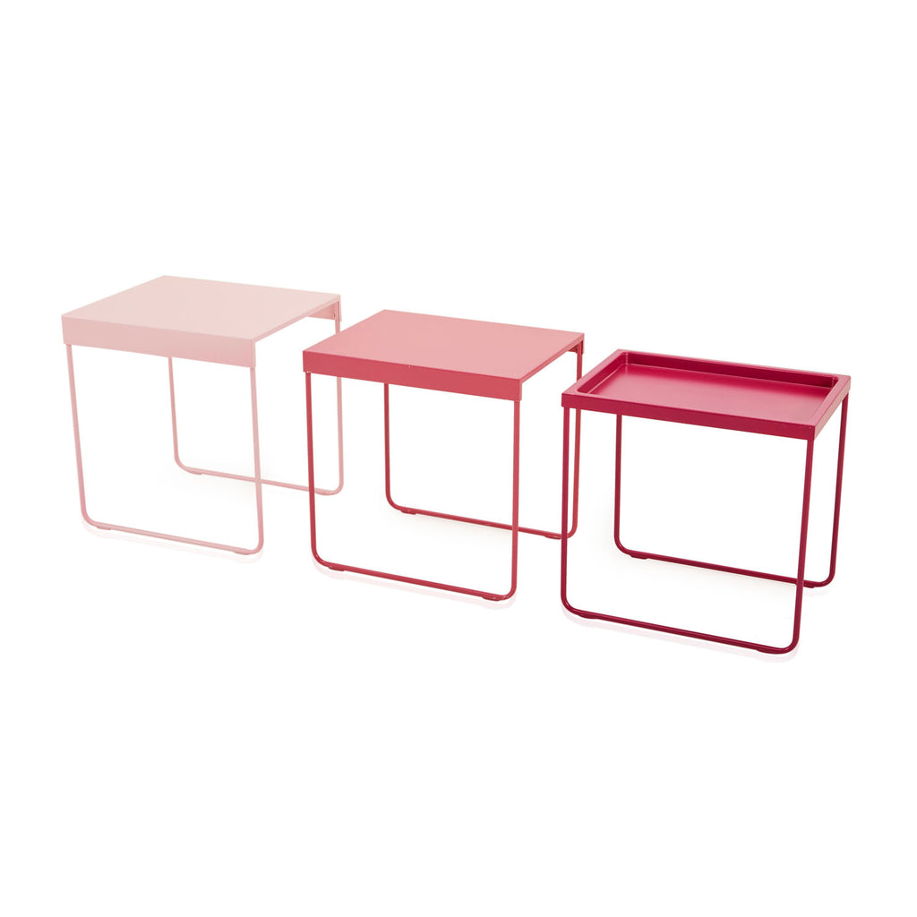 Pink Gradient Nesting Tables Set of 3