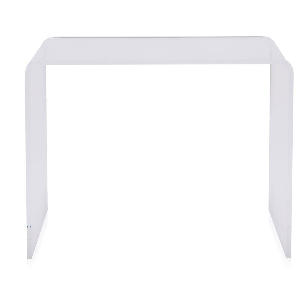 Clear Acrylic Waterfall Console Table