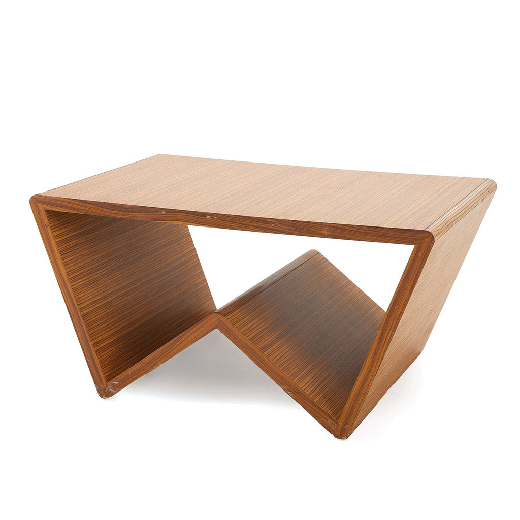 'W' Shaped Wood Coffee Table