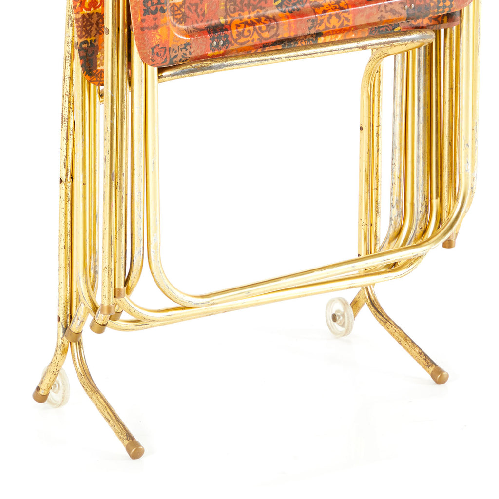 Ornate Checkered Tray Table