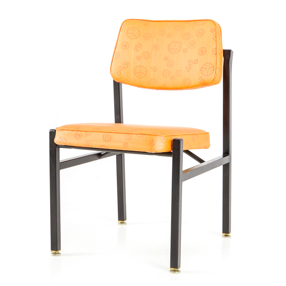 Orange Mid Century Armless Chair