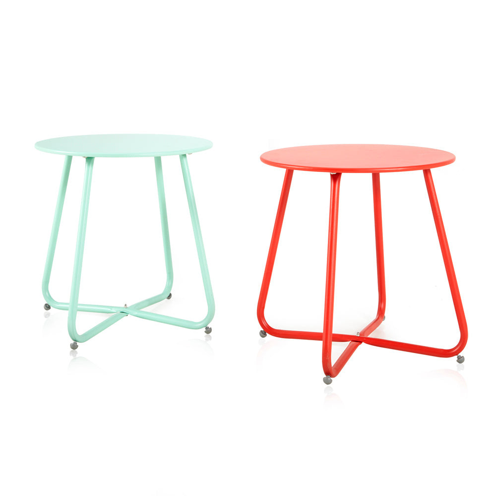 Metal Side Table - Red