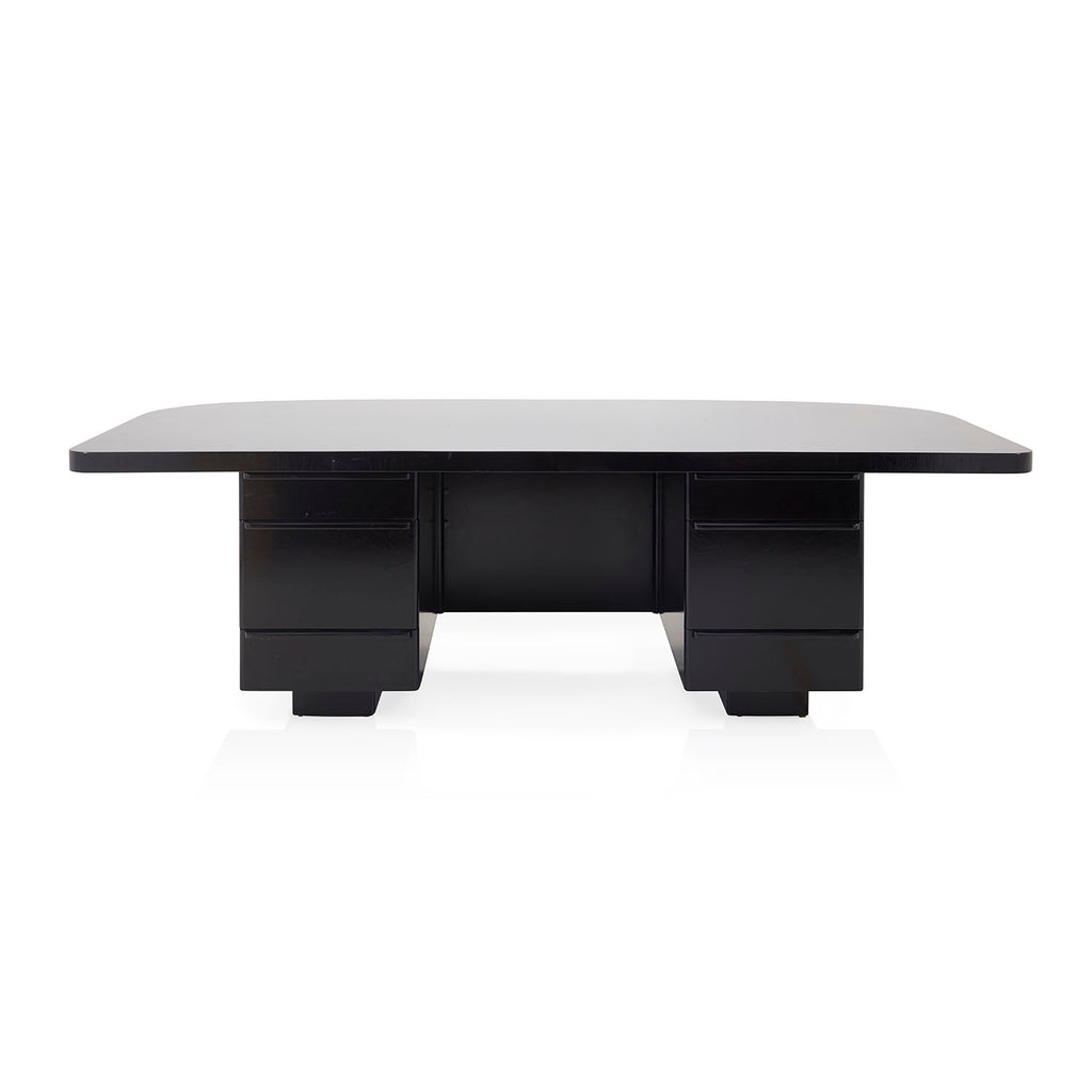 Black Wooden Executive Desk