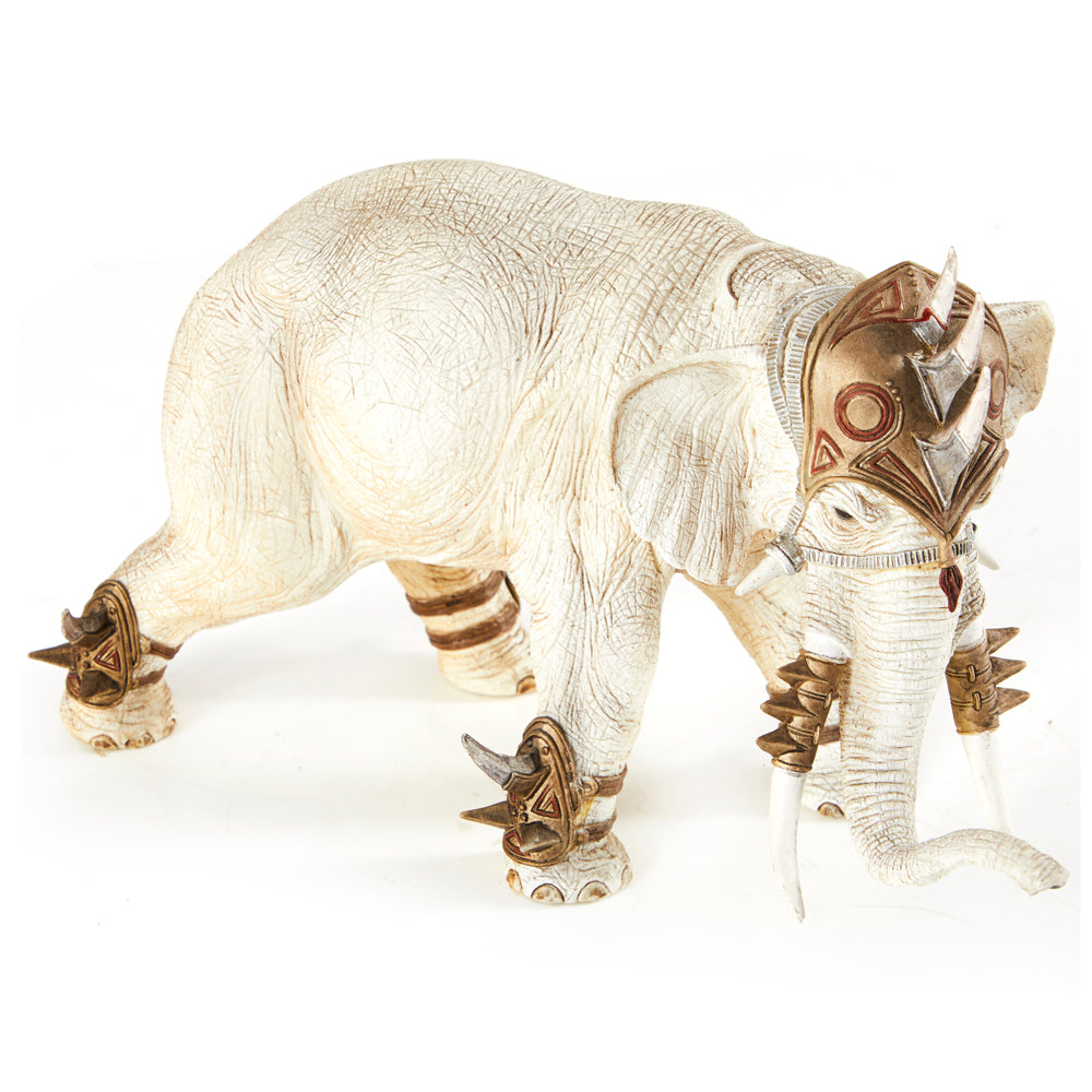 White Battle Elephant Toy