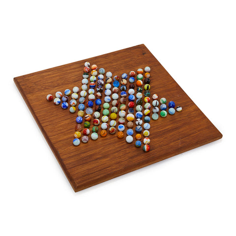 Chinese Checkers Board with Marbles