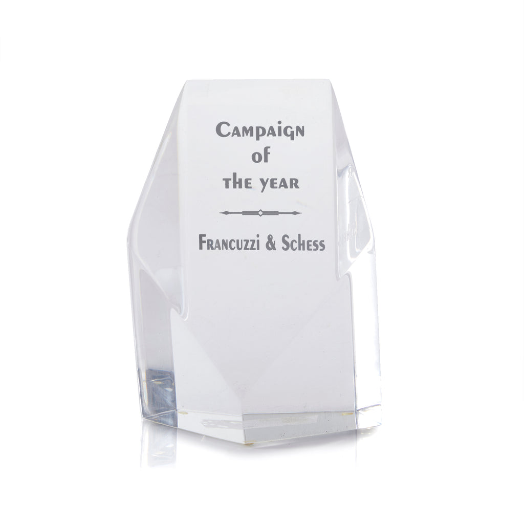 Clear Glass Campaign Trophy Award