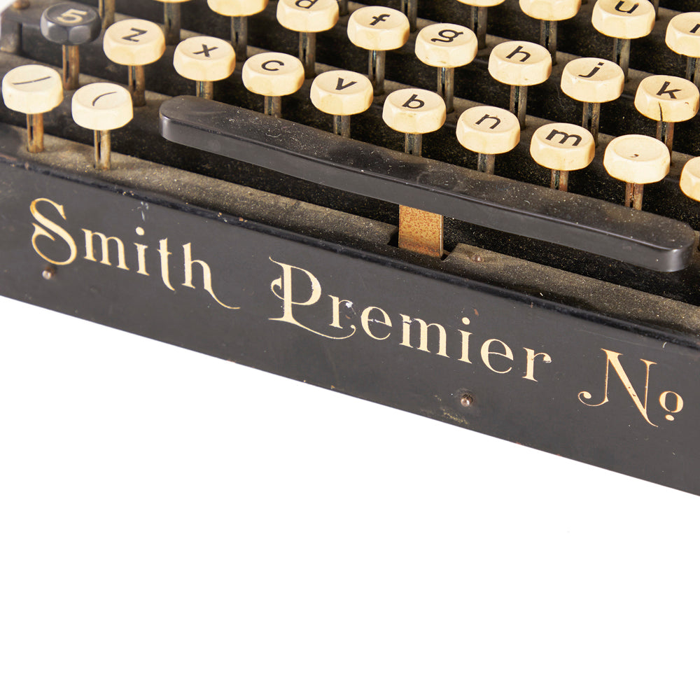 Smith Premier No. 2 Vintage Black Typewriter