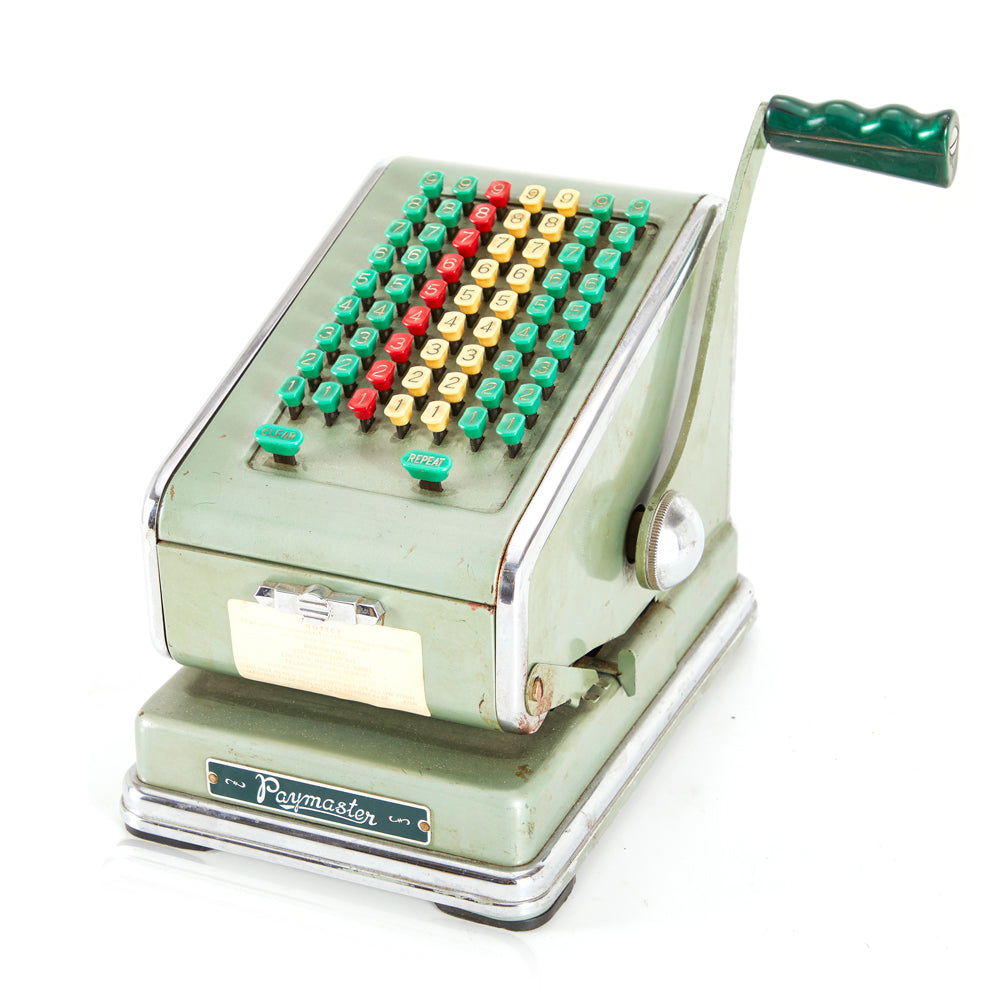 Paymaster Vintage Green Adding Machine