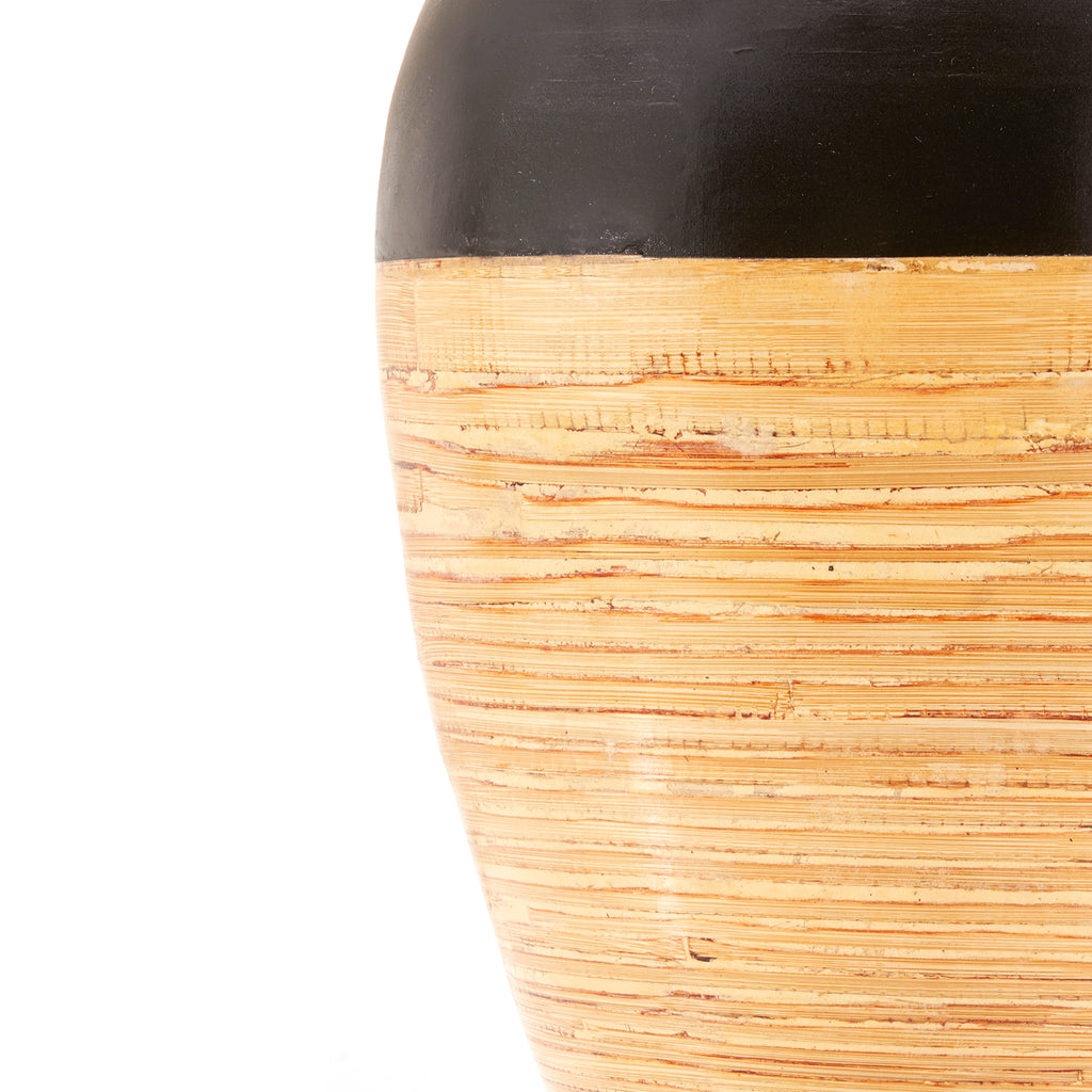 Black and Bamboo Oversized Vase