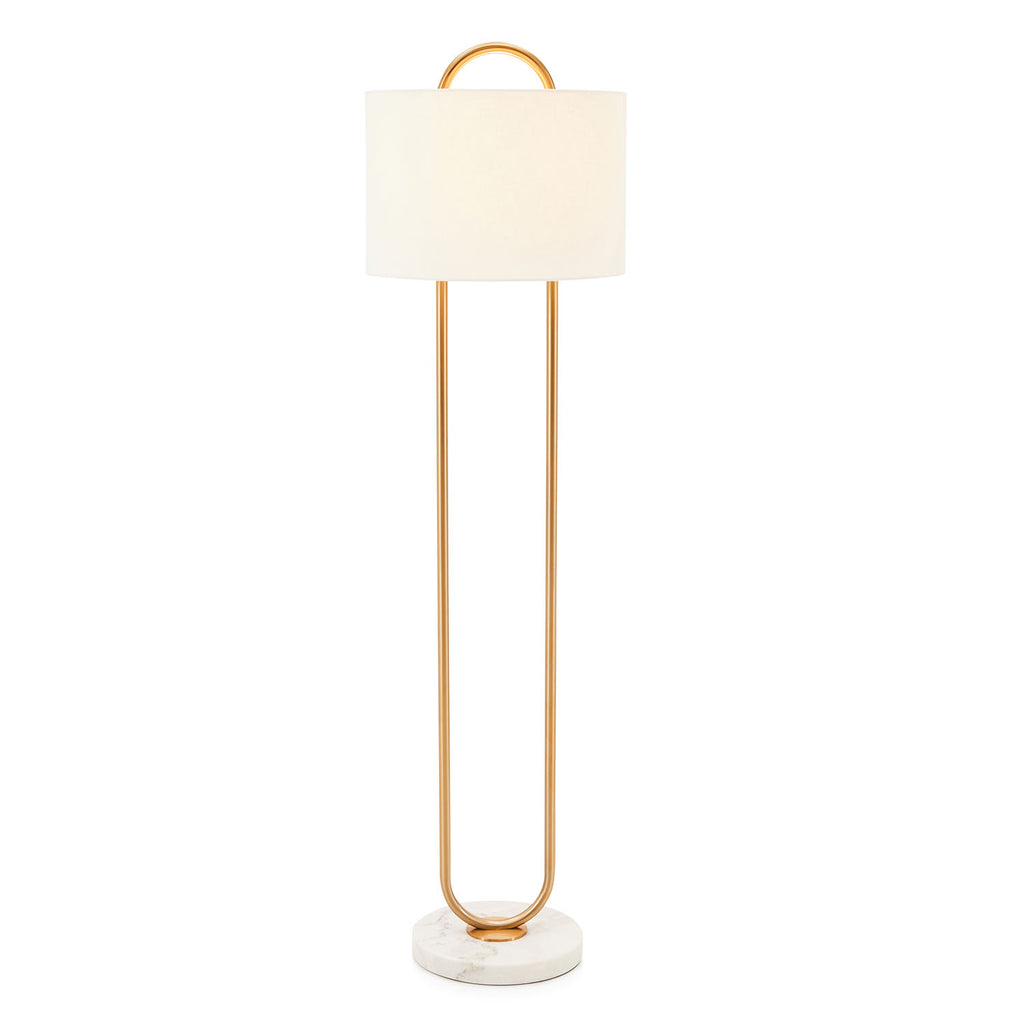 Warner Marble Base Floor Lamp