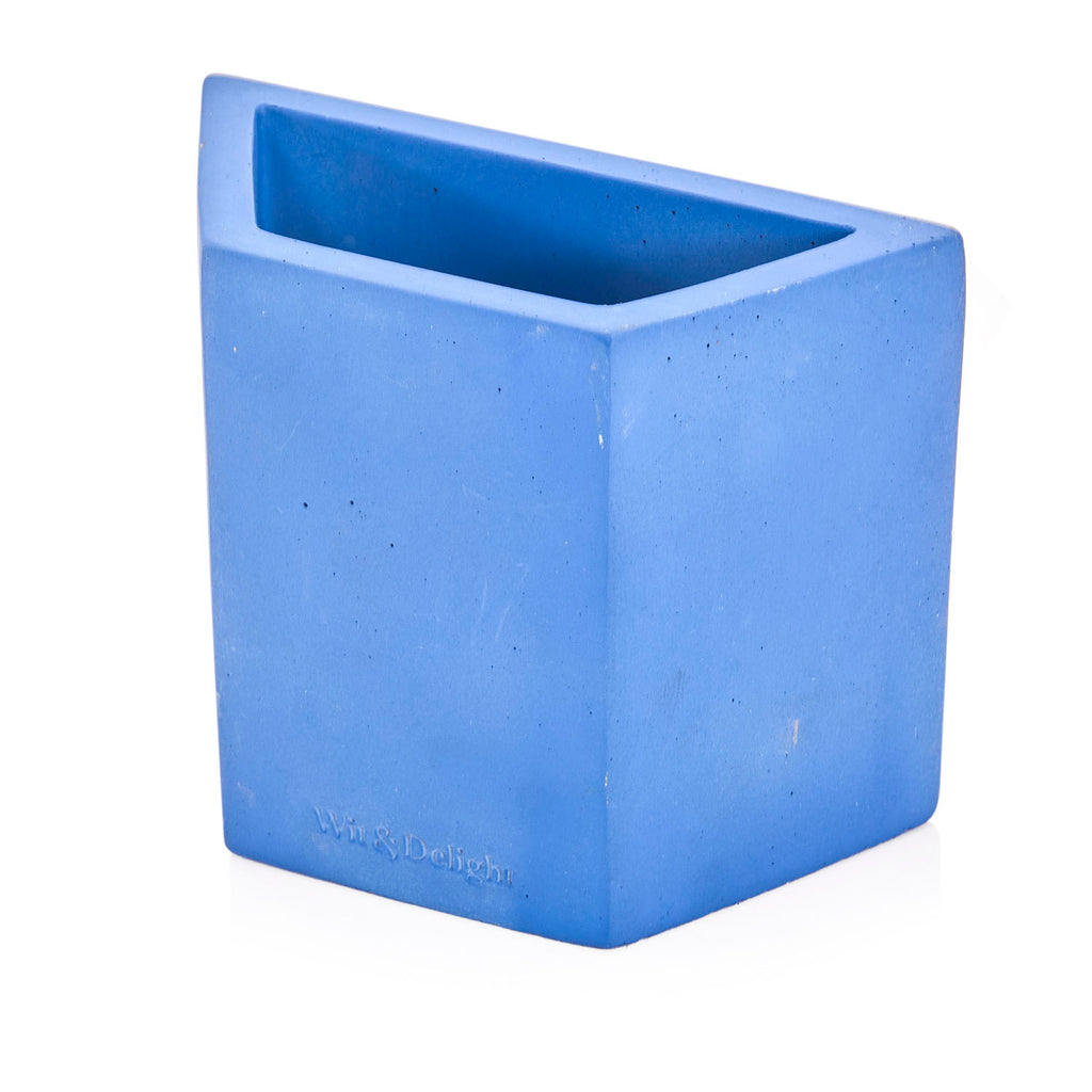 Blue Concrete Pen Holder