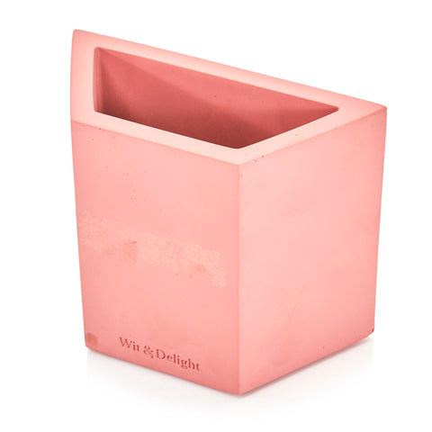 Pink Concrete Pen Holder