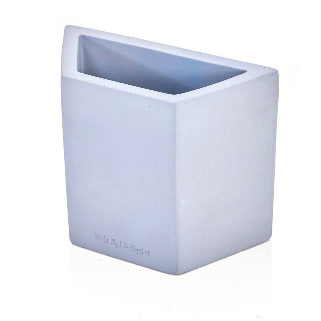 Light Blue Concrete Pen Holder