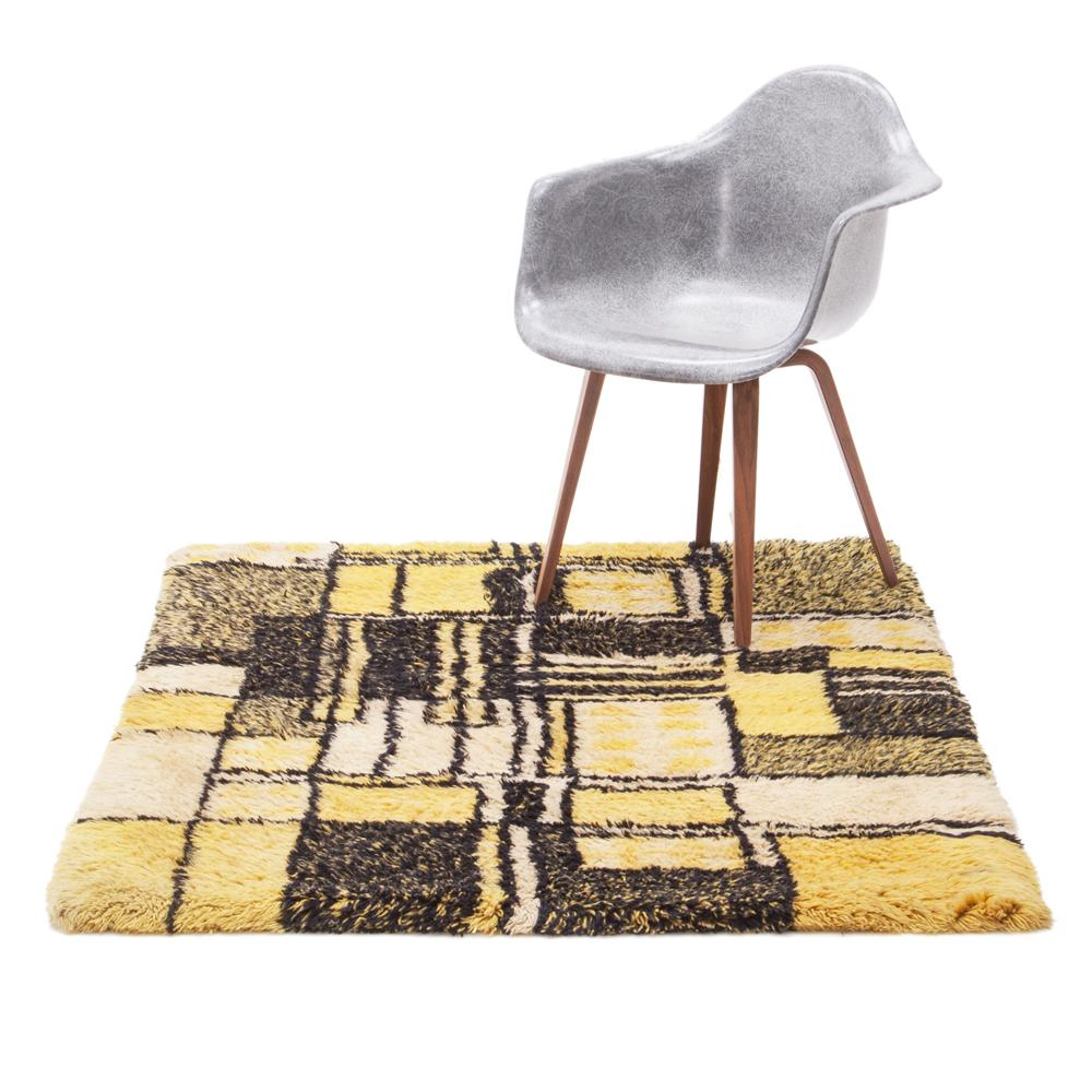 Yellow Squares Rug