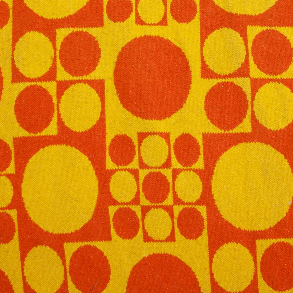 Orange & Yellow Patterned Rug